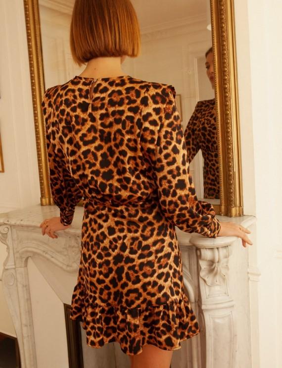 Dos robe courte léopard Nissia