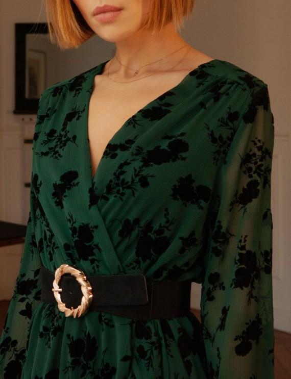 Col robe verte et noire Sophia