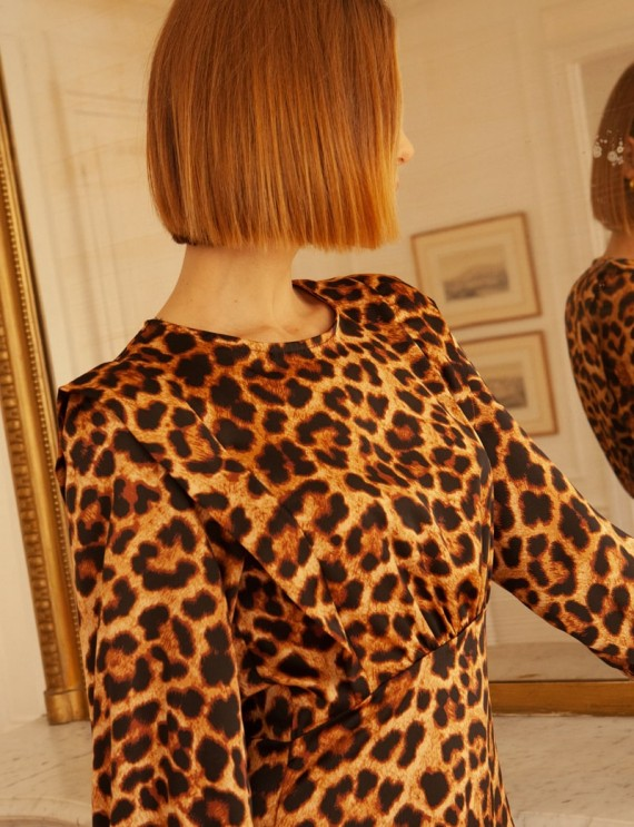 Robe courte léopard Nissia