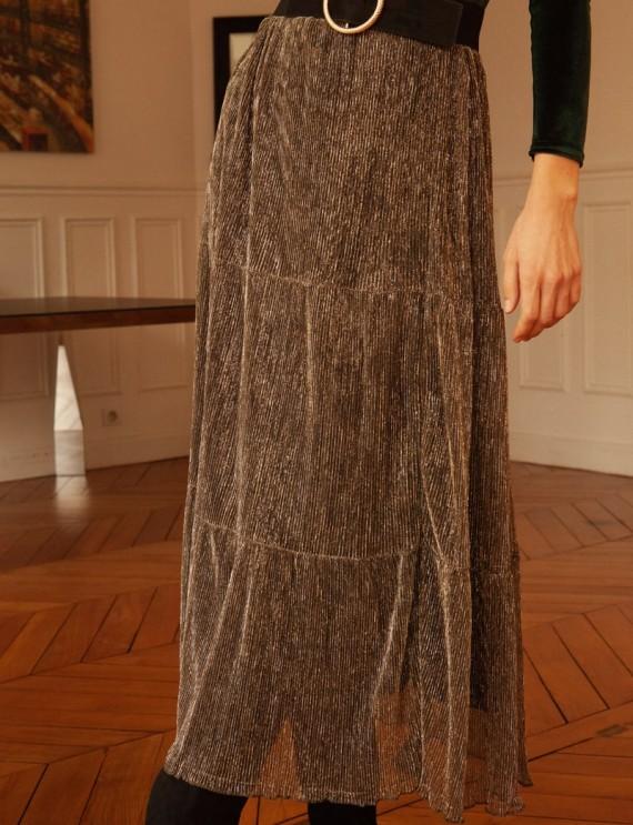 Long iridescent India skirt