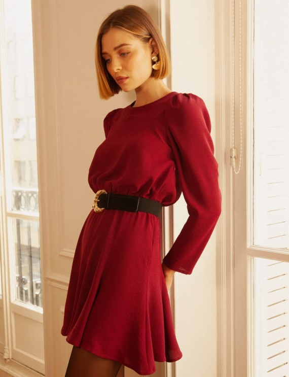 Burgundy Judie dress