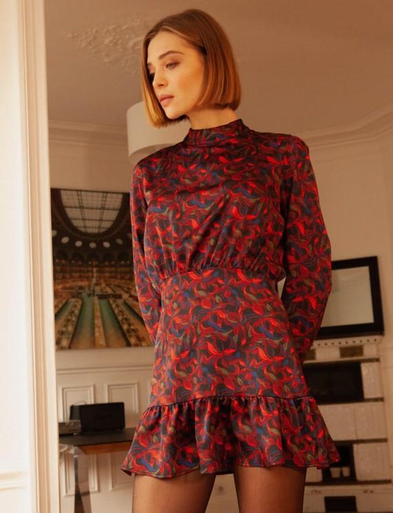 Robe courte imprimée Irys