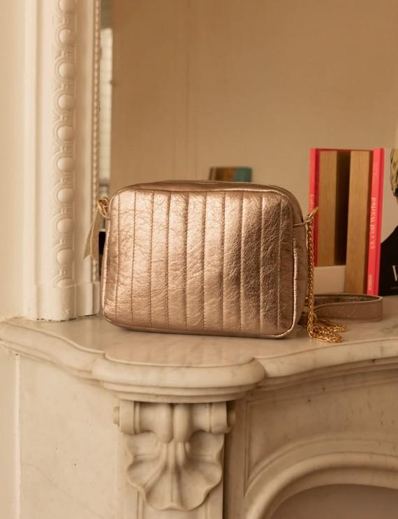 Champagne iridescent Lilio bag