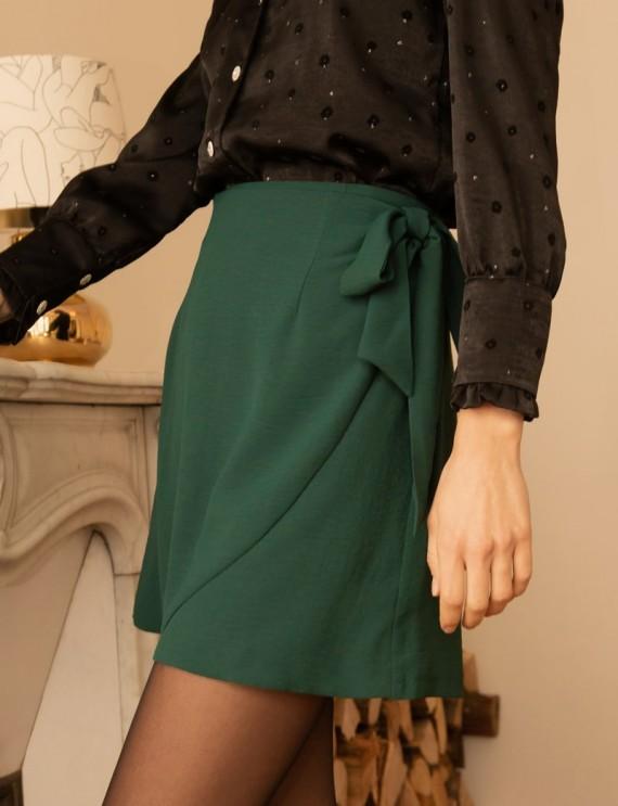 Green Lolita wrap around skirt