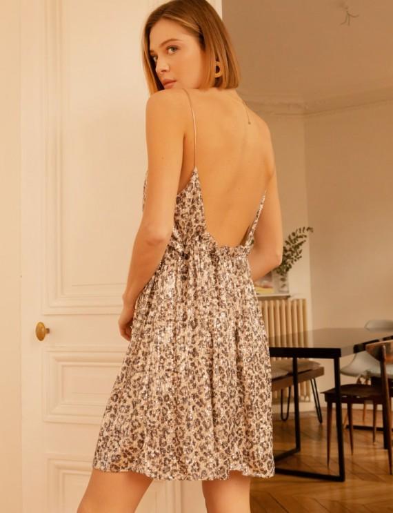Dos robe léopard Tasha