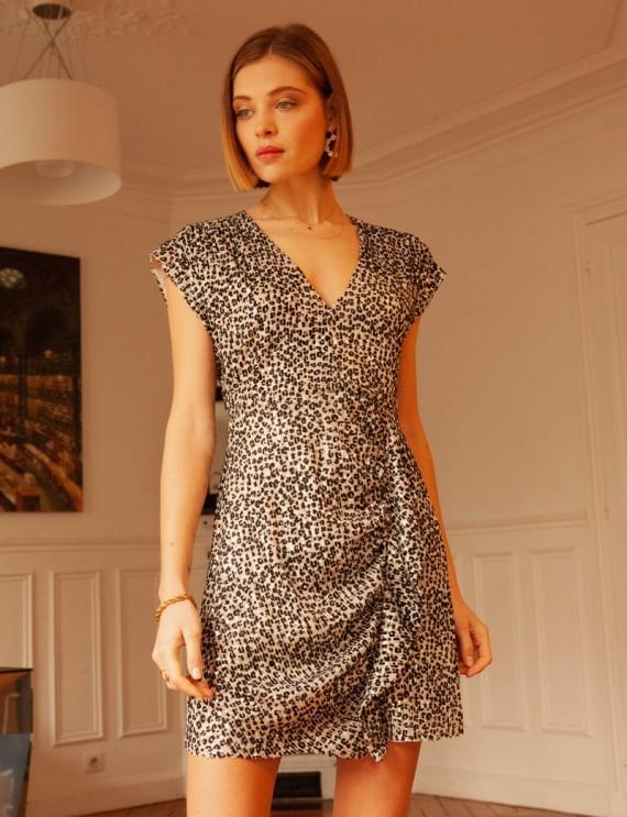 Robe léopard à sequins Rosina