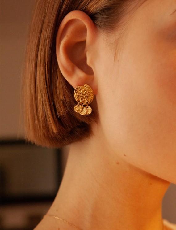 Boucles d'oreilles dorées Riya