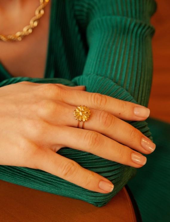 Bague dorée Sita