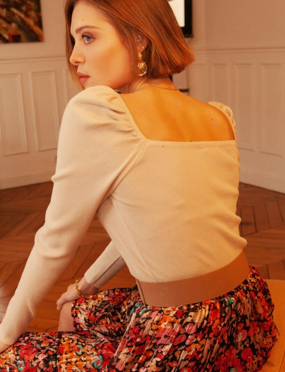 Pull beige Marceau