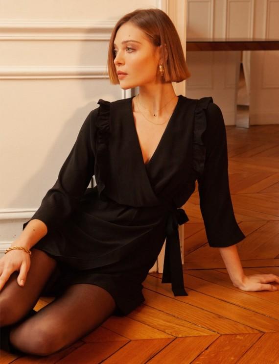 Robe noire Maryse