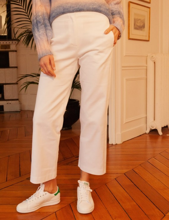 White Julian trousers