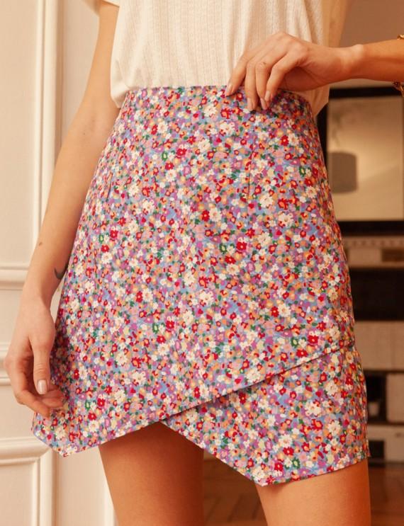 Floral Clémentine skirt