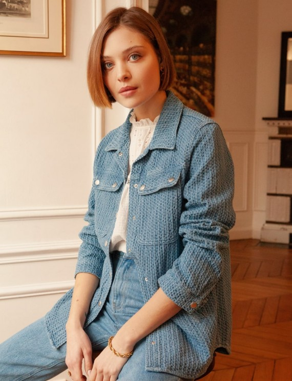 Blue Ella overshirt