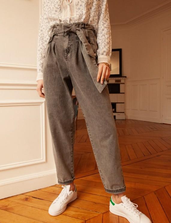 Grey Brad mom jeans