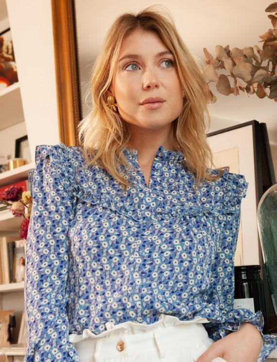 Blue floral Paloma blouse
