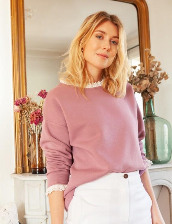 Dark pink Louka sweatshirt