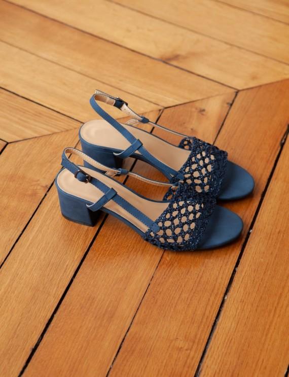 Sandales bleues Bayla