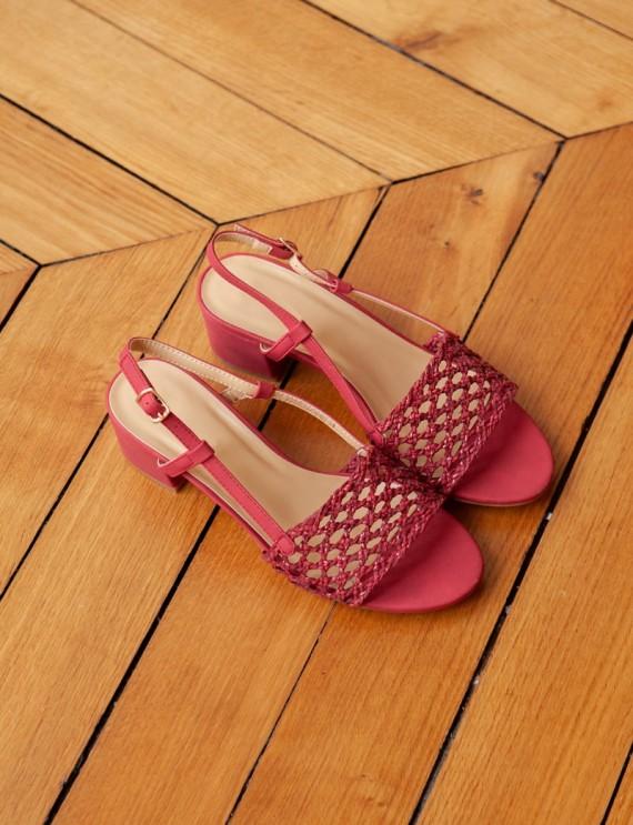 Red Bayla sandals