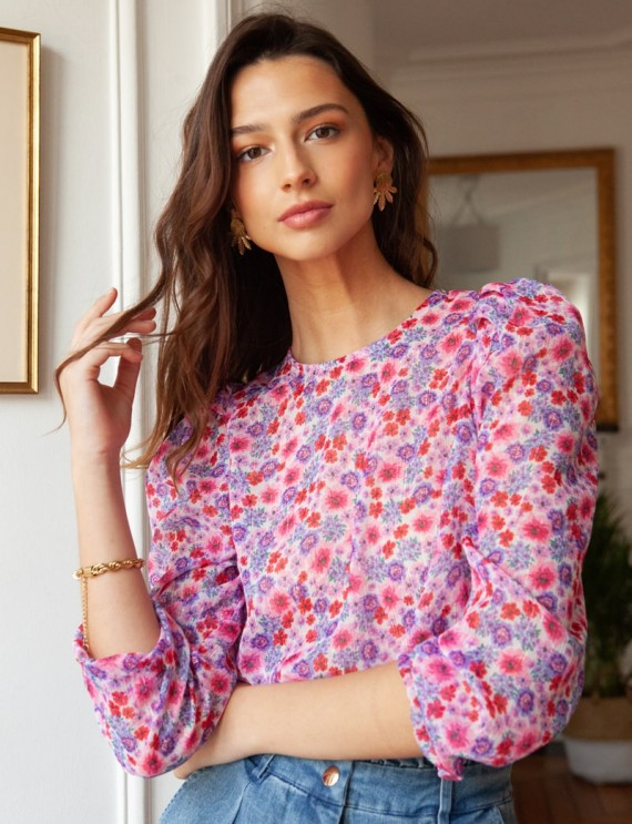 Floral Tiya blouse