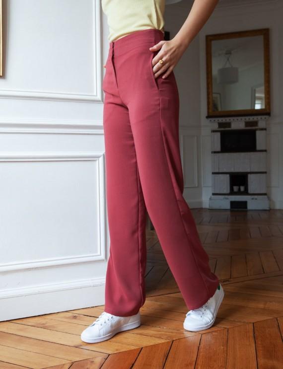 Pantalon terracotta Sammy