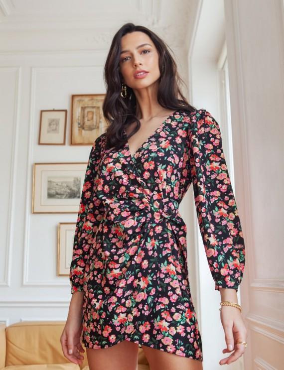 Black floral Callie dress