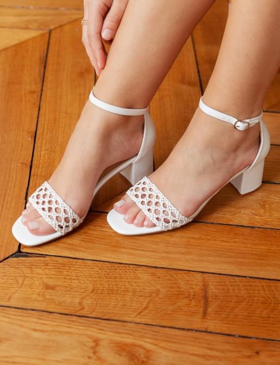 White Bahia sandals