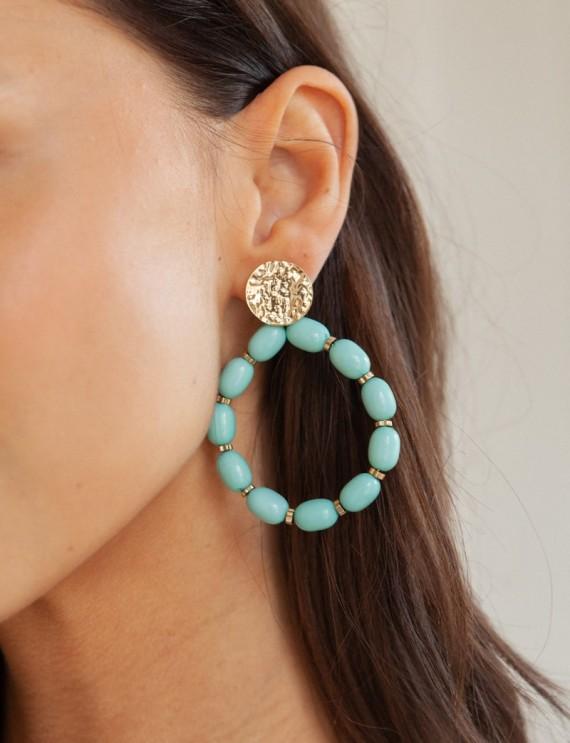 Boucles d'oreilles aqua Oriana