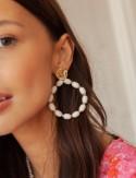 Boucles d'oreilles écrues Oriana