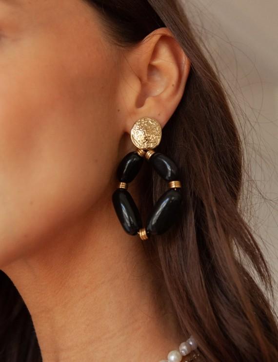 Black Manoly earrings