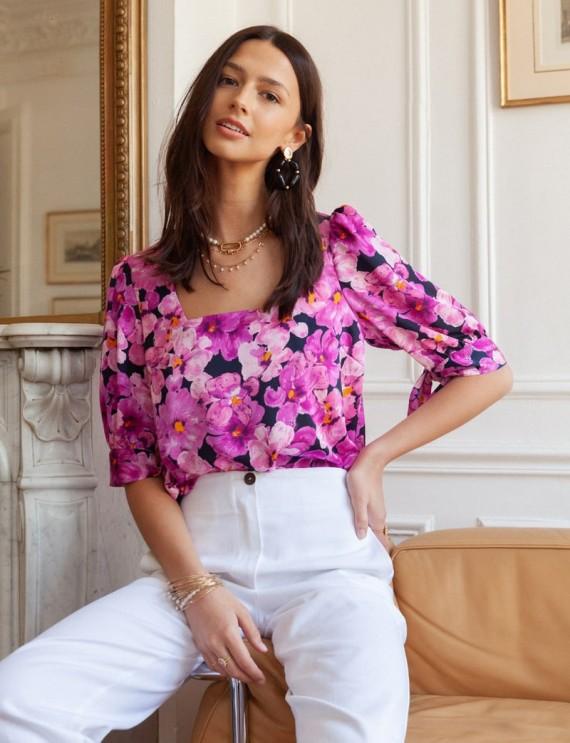Floral Maria blouse