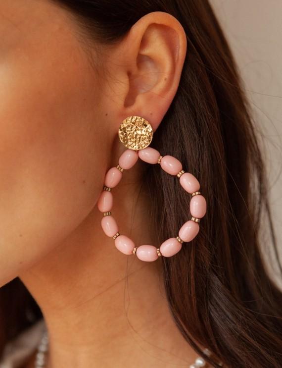 Pink Oriana earrings