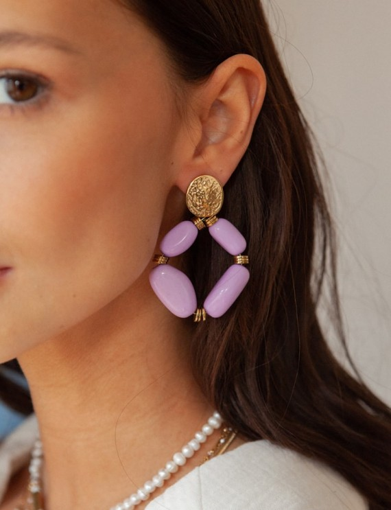 Lilac Manoly earrings
