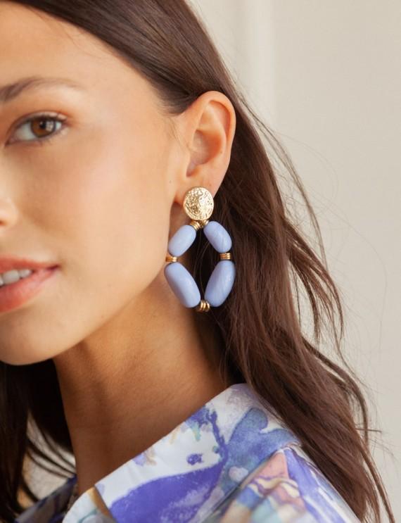Sky blue Manoly earrings