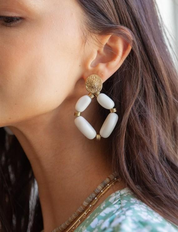 Boucles d'oreilles écrues...