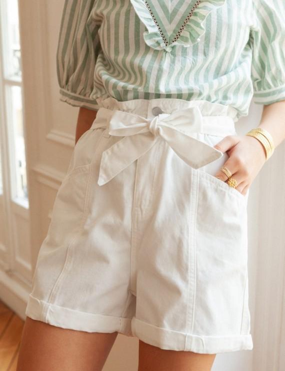 White Maelo shorts