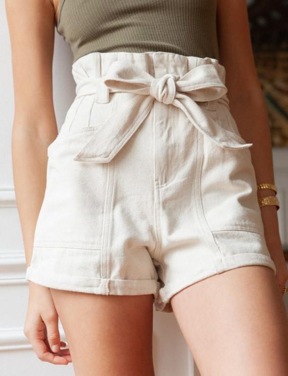 Beige Nessa shorts