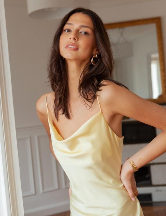 Top robe jaune Valéria