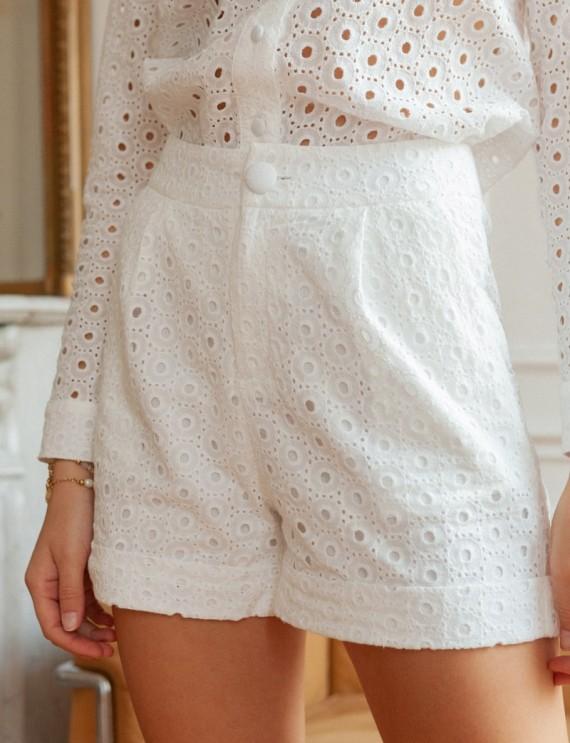 White Surry shorts