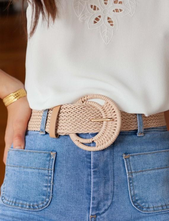 Beige Cow belt