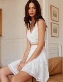 Look blanc jupe Jessa