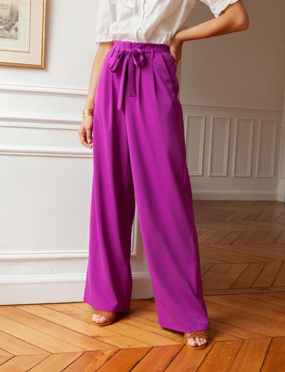 Pantalon violet Mika