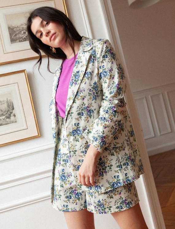 Anny ecru floral jacket