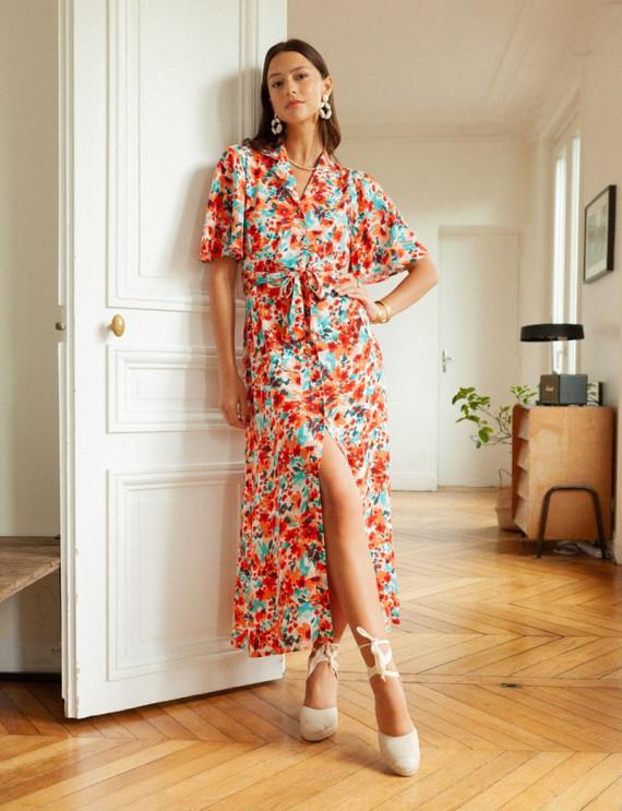 Long floral Manuella dress