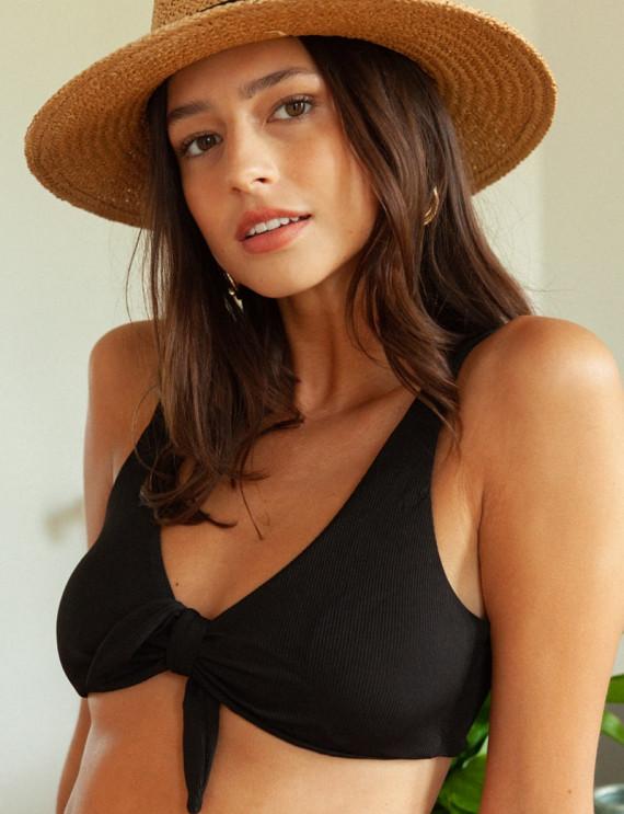 Black Calvi bikini top