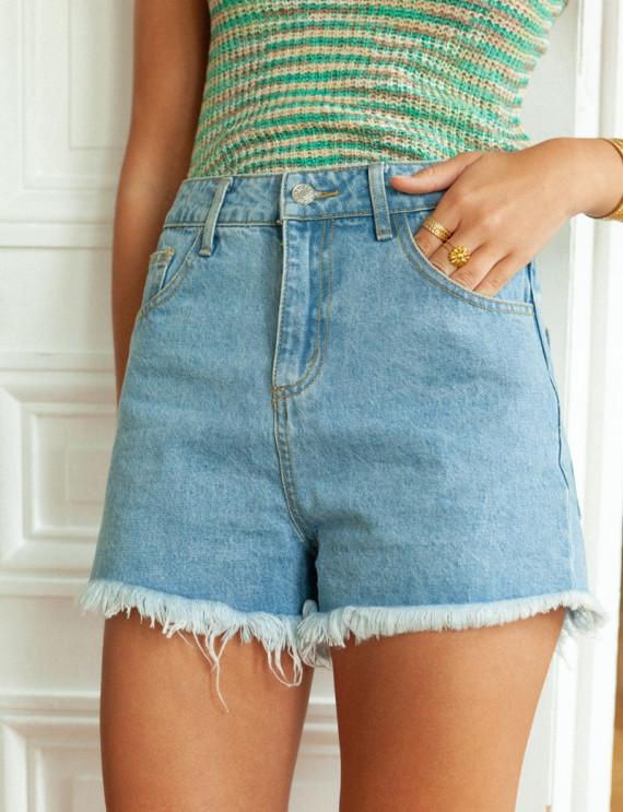 Noé denim shorts