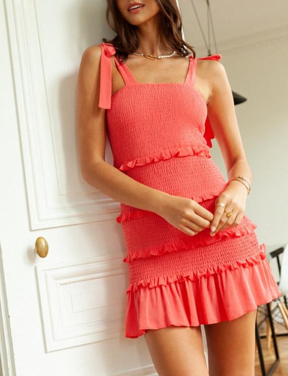 Angela coral dress