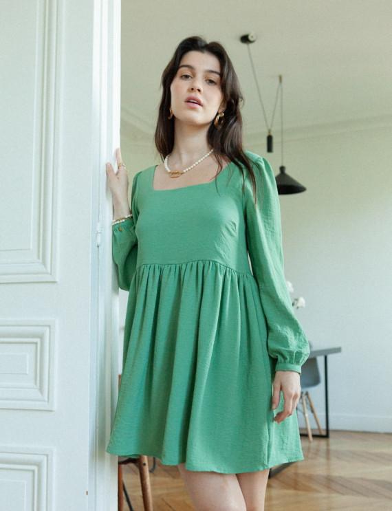 Green romane dress