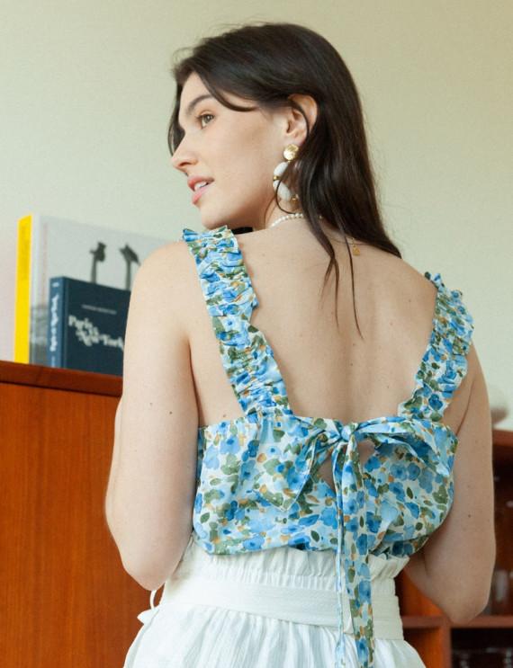 Blue floral Nino top