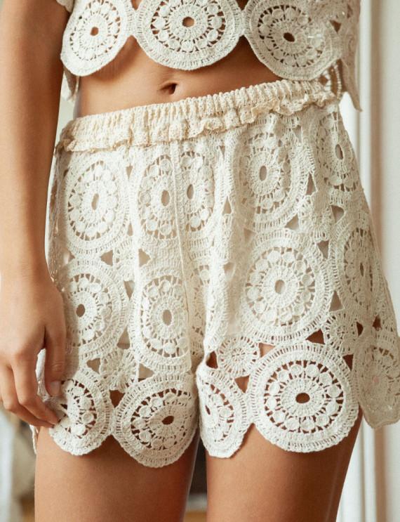 Positano crochet shorts