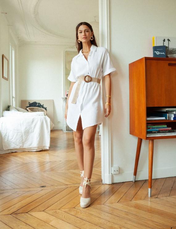 White Emma shirt dress